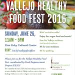 Vallejo Healthy Food Festival Poster