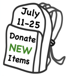 July 11-25 Donate New Items