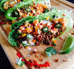 Walnut Tacos with Sweet Apple Salsa